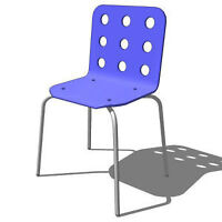 IKEA JULES Visitor/desc chair, blue, silver color Watch Share  P