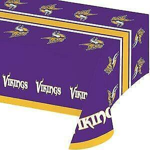 Minnesota Vikings Plastic Table Cover (New)