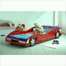 car bed boys racing car red without mattress kids