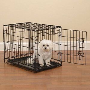 Small Dog wired Crate( $ or trade for larger size)