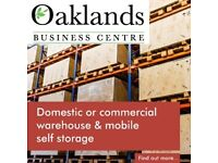 SELF STORAGE AT OAKLANDS BUSINESS CENTRE. COLLECTION SERVICE AVAILABLE. 24/7 ACCESS. CCTV. ALARMED