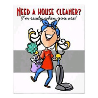 Looking for houses to clean.