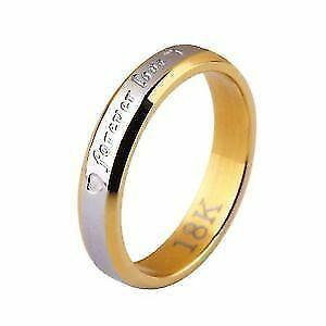 ring size 7 and 9 womens size 8 mens stamped 18k new