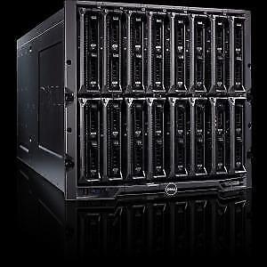 Dell M1000e Blade Enclosure with 4x M620 2x E5-2660v2 32GB Blades