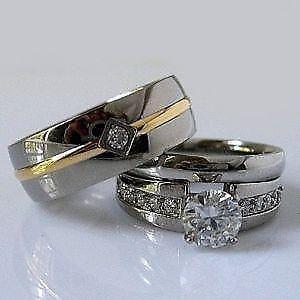 wedding band sets - Camo Wedding Rings With Real Diamonds