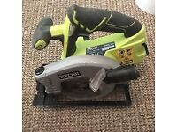 Ryobi plus one circular saw with battery and charger