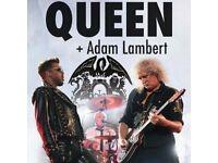 2 x standing Queen and Adam lambert tickets London o2 Wednesday 13th December 2017