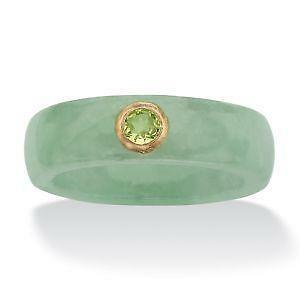 Gold Jade Ring Ebay
