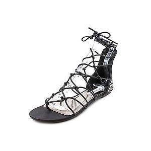 96d87a8c636d Black Flat Gladiator Sandals