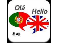 Portuguese for English language exchange