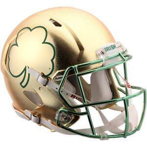 f40a0b1ef Notre Dame Shamrock Helmet