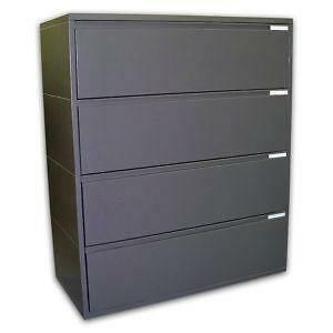 Beautiful Dark Brown Wood File Cabinet