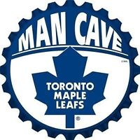 Toronto Maple Leafs Bottle Cap Design Wall Sign (New)