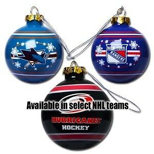 Brand New NHL and NFL Team Christmas Ornaments