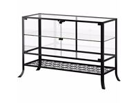 Ikea Klingsbo Black Clear Glass Door Cabinet