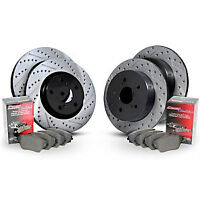 StopTech CEBKB303124 Sport Drilled & Slotted Brake Disc and Pad