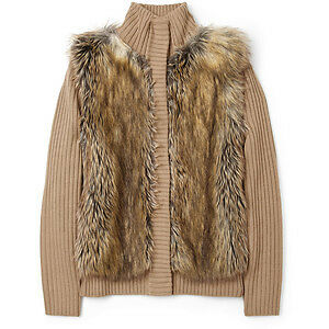 MICHAEL KORS Faux Fur Cardigan