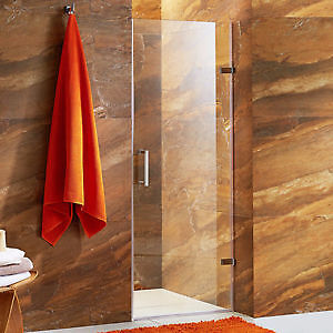 "VIGO SoHo 28"" Adjustable Frameless Shower Door with Stainless St"