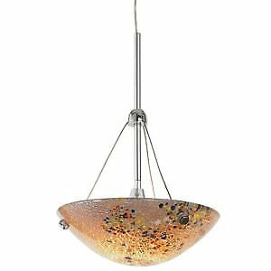 Murano glass art pendant light, brand new.
