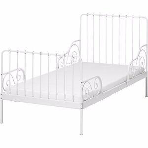 IKEA Extendable Minnen Toddler Junior Bed White Cream
