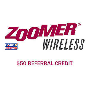 $50 Credit if you Sign up Zoomer Wireless