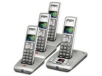 Four BT SYNERGY 6500 Cordless Phones with Answer Machine.