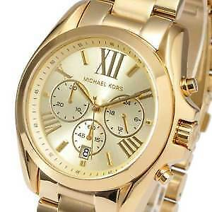 Michael Kors Women's Gold Over-sized Bradshaw Watch MK5605