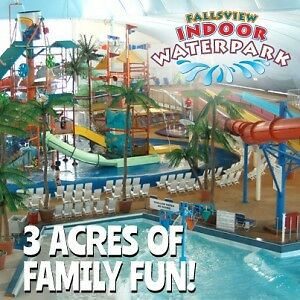 Fallsview Indoor Waterpark Family pass(4 tickets)weekend/holiday