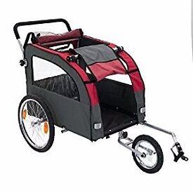 Globetrotter dog bike stroller/trailer, as new.
