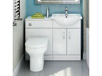 Bathroom Quartz Gloss with Toilet & Basin - Cesar III REF:GT1235