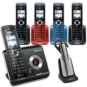 Vtech DECT 6.0 Digital 5-Handset Cordless Phone Answering System