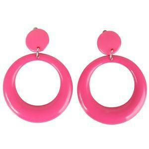 Large Hoop Clip On Earrings