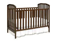 Nursery Set, Cot & 4 Drawer Chest, Walnut Colour, Very Good Condition.