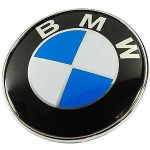 Brand New Sealed Car Hood Front Rear BMW Emblem Logo 82mm 74mm