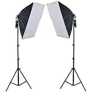 Photo Video Continuous Lighting Softbox Kit Brand New - On Sale!