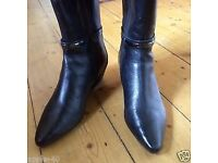 Marks and Spencer Autograph / Insolia black leather boots, Size 5