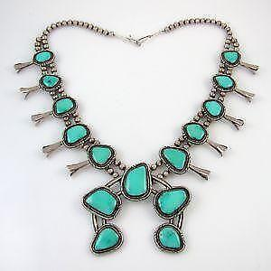 eec8f2e50 Navajo Squash Blossom Necklaces
