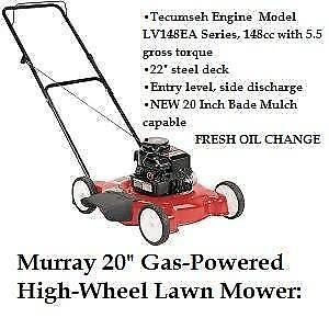 "3.5 HP Murray 22"" Gas Powered Push Lawn Mower Walk Behind Mulch"