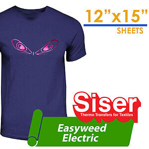 "Siser foil Electric Heat Transfer Vinyl 12""X15"" Silhouette Cameo"