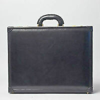 The Buroni Large Leather Attache Case Black 25 years warranty