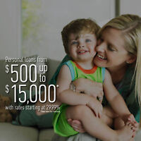 We say Yes when banks aren't an option. Loans up to $15,000.00