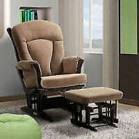 Multiposition Lock and Reclining Glider with Ottoman Features: T
