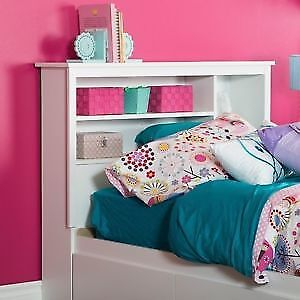Single Mates Bed With storage with headboard White (NEW)$185.00