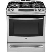 GE PC2S920SEFSS Dual Fuel Freestanding Convection Gas Range