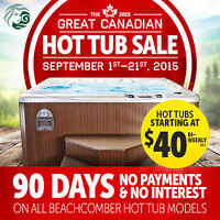 Hot Tub Sale - Beachcomber Hot Tubs at The Brick!! Sept 1 - 21st