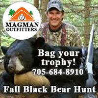 Black Bear Hunting Outfitter in Muskoka, Ontario