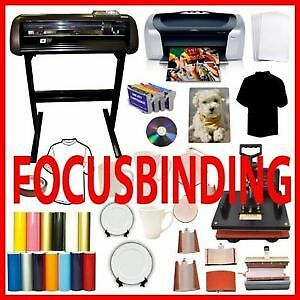 "8 in1 Heat Press,24"" Metal Vinyl Cutter Potter,Printer PU Bundle"