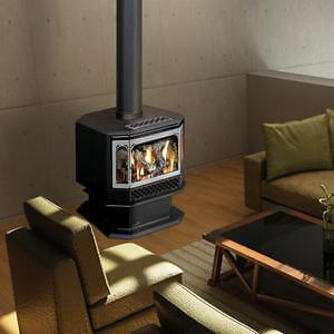 New Napoleon CDVS500-1NSB Pedestal Gas Fireplace