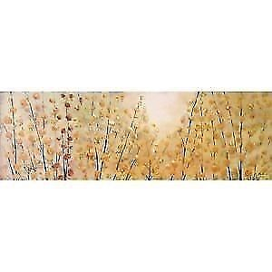 "Sundrenched Canvas Wall Art - 60"" x 20"" Oil Painting"