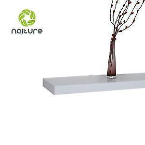 Like New Lightly Damaged, Naiture 60 L x 10 W x 2 H inch Floating Wall Mounted Shelf White PICKUP ONLY - PU0